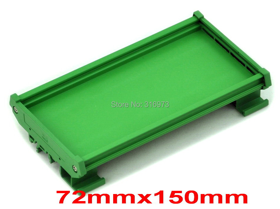 ( 50 Pcs/lot ) DIN Rail Mounting Carrier, For 72mm X 150mm PCB, Housing, Bracket.