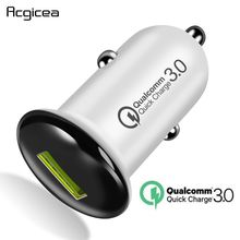 Car Charger Quick Charge 3.0 QC 3.0 Fast Charging Adapter US