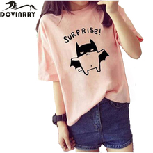 Summer Style T-shirt Women Casual Kawaii Top Tees Printed Tshirt Female Surprise Pig Top Brand Clothing T Shirt Tumblr Rock Tee
