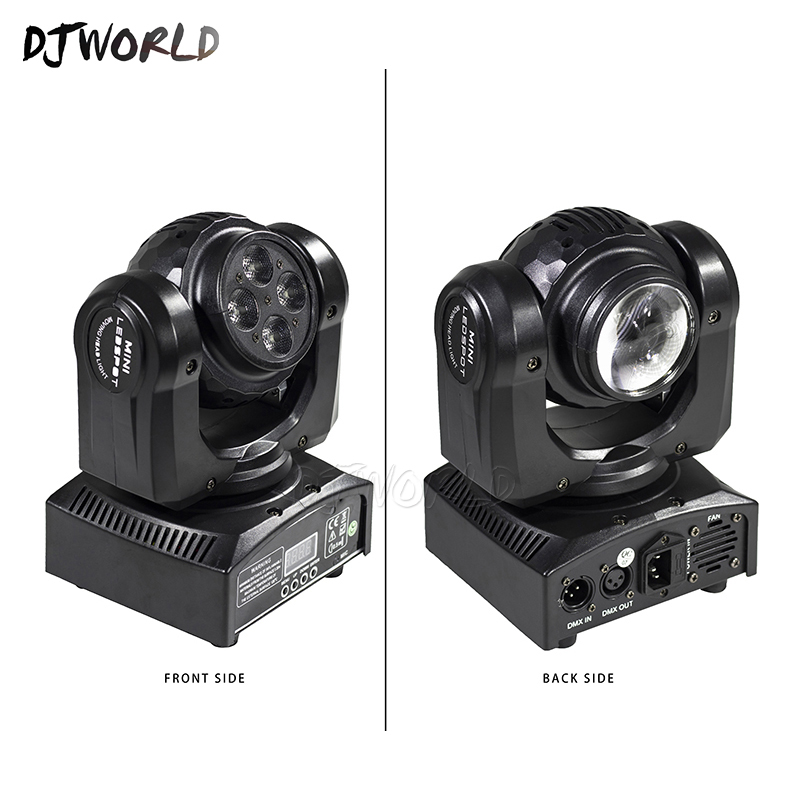 2PCS DJWorld Double Side 4x10W+1x10W LED Moving Head Light dmx Rotating Stage Lights Effect For Disco KTV Club Party Light