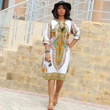Vestidos de fiesta oferta dashiki africano tranditional metade impressão manga longa dress new verão arte popular roupas femininas sbk127