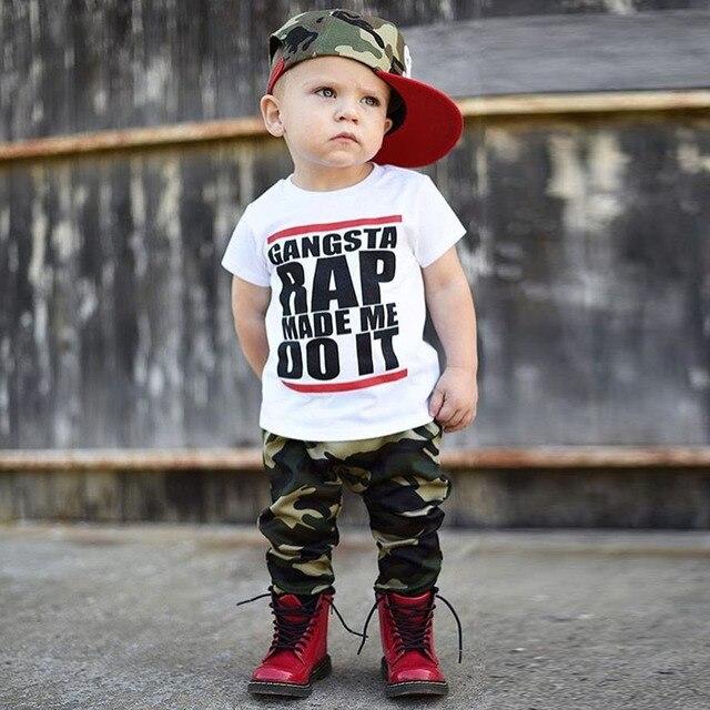 f3a703429fdd Toddler Kids Baby Boy Summer Short Sleeve Baby Kid Boy Summer ...