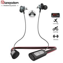 Langsdom L9 Sports Fone de Ouvido Bluetooth para o Telefone Sem Fio bluetooth Headset neckband fone de ouvido com Microfone fone de ouvido