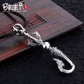 Beier new store 100% 925 thai silver sterling animal pendant necklace punk fashion jewelry free give rope  A2110