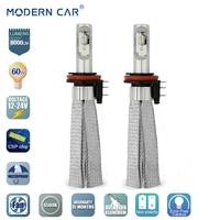 MODERN CAR Led Headlight Bulbs H15 H7 H4 H11 H8 H1 9005 9006 9004 Hi Lo Headlights 6000K 60W 8000Lm Canbus No Error Epistar Chip