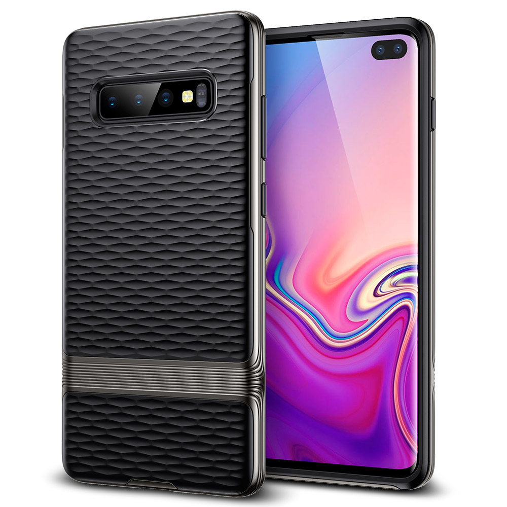 Case For Samsung Galaxy S10 Plus Cover TPU+PC Case Slim Hybrid Design Water-Ripple Texture Phone Bumper For Samsung S10 Plus