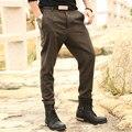 2016 Otoño Invierno Moda de Lana de Alta Calidad de Los Hombres Pantalones de Marca pantalones Rectos de Mediana Altura Larga de Lana Ocasionales de Los Hombres Pantalones Pantalones Hombre