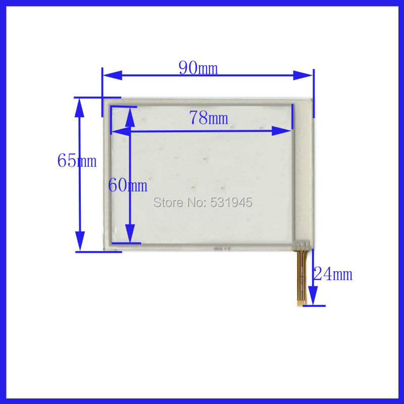 POST 3.8 inch 4-wire resistive Touch Panel   XWT175  90*65 compatible Navigator TOUCH SCREEN  90mm*65mm GLASS LCD  display  цены