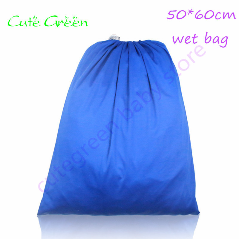 50*60cm Hot Sports Beach Bags Draw String Bag Waterproof Travel Wet Bag Single Pocket Pail Liner Bags For Cloth Diapers Nappy