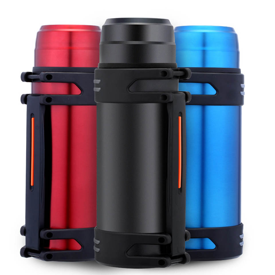 2000ML Stainless Steel Thermos Kettle Insulation Bottle Vacuum Flask with Mug Large Capacity Water Pot Travel drink Kettle ST190