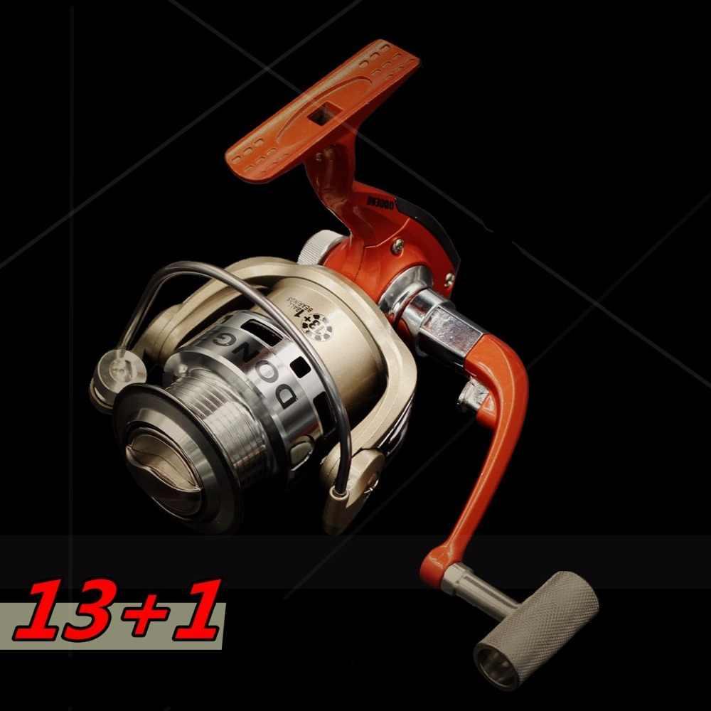 Fishing Reels 13+1BB Metal spool for fish feeder baitcasting reel spinning reels for rod Carp Big Trolling Fishing Reels