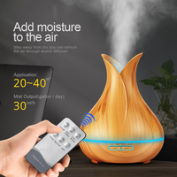 KBAYBO 400ml Aroma Essential Oil Diffuser Ultrasonic Air Humidifier with Wood Grain 7 Color Changing LED Lights for Office Home 3