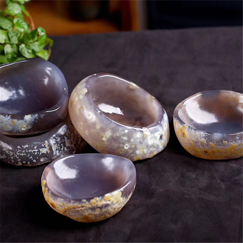 1pcs beautiful agate bowl agate Ashtray crystal ashtray for home decoration natural stone agate bowl