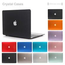 Новый прозрачный кристалл чехол для Apple MacBook Air Pro Retina 11 12 13 15 крышки ноутбука сумка для mac Book 13.3 дюймов