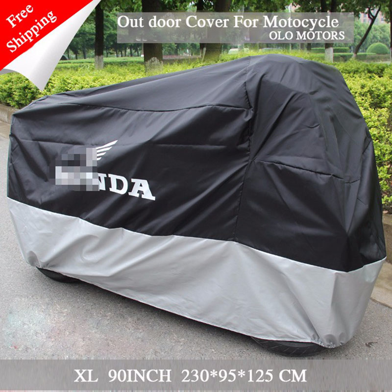 TKOSM Free Shipping New Motorcycle Cover 6 Size Water Proof Motorcycle Black With Sliver Down With Logo 210t Material Motocycle