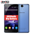 "6000 mah original blackview p2 4g telefone móvel android 6.0 5.5 ""fhd mtk6750t octa core 4 gb de ram 64 gb rom 13mp 9v2a impressão digital"