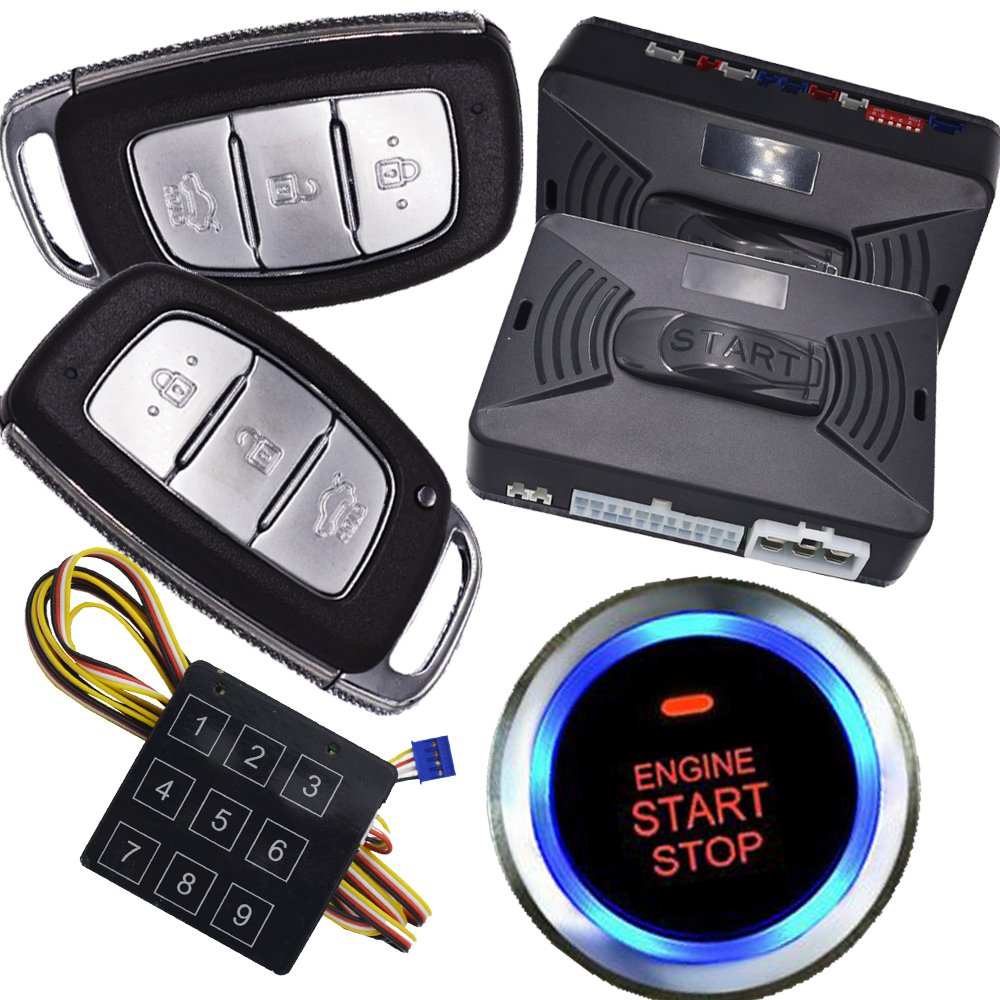 cardot anti theft alarm system with engine start stop button auto central lock system remote car alarm system password unlock все цены