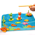 Wooden Children Fishing Kitty Toys 14 Fishes 2 Magnetic Sea Fishing Rods Baby Fishing Game Children Educational Toy Baby Toy