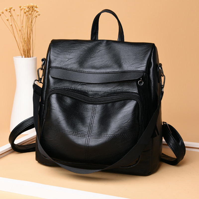 2018 fashion Women Travel Backpack PU Leather Purse Zipper Girl School Bag Casual Shoulder Bags BS88