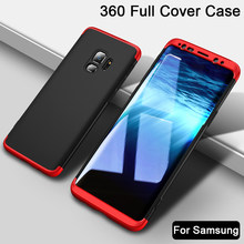 3 in 1 Protective Case for Samsung Galaxy J4 J6 J8 Plus 2018 360 Degree Full Cover Case for Samsung J2 Pro 2018 J3 J5 J7 2017 EU(China)