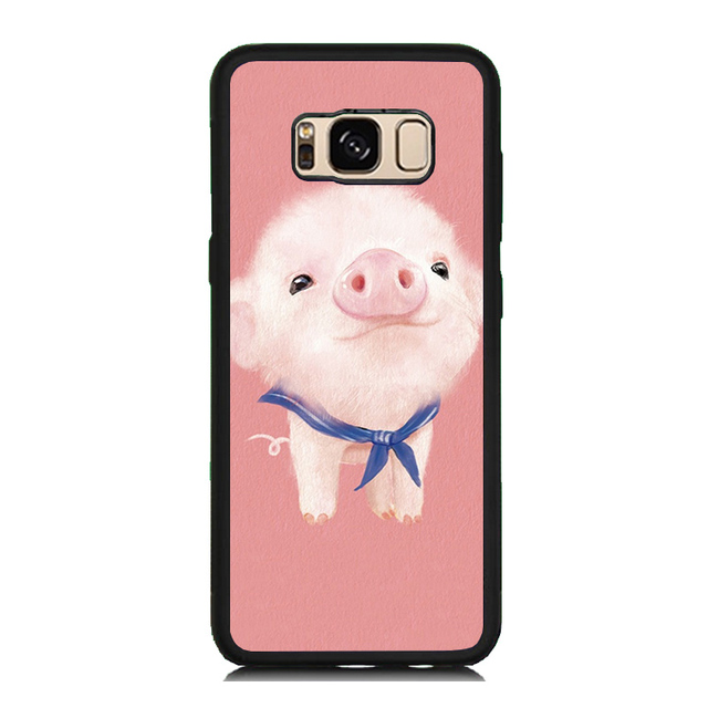 sale retailer da56b f05b9 Pretty Pink Pig Print Soft Rubber Cellphone Case For Samsung Galaxy S8 S8  Plus S7 S6 Edge S5 S5 Mini Plastic Back Cover Skin-in Fitted Cases from ...