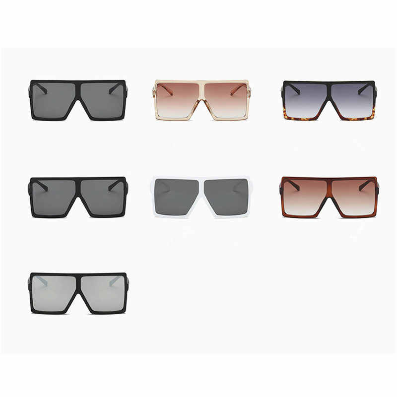 Feedback About 2019 Questions Square Sunglasses Oversized Detail 5LAj4R