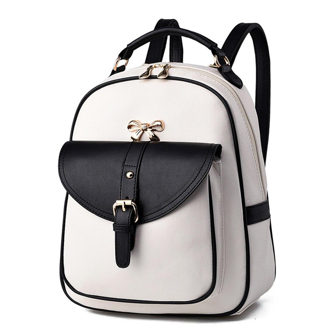 women leather backpack teenage backpacks for girls fashion vintage feminine backpack sac a dos femme School