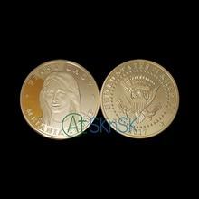 5 pçs/lote 2017 primeira senhora melania trump eagle comemorativa novidade moeda 38mm comemorativa novidade moedas dos estados unidos