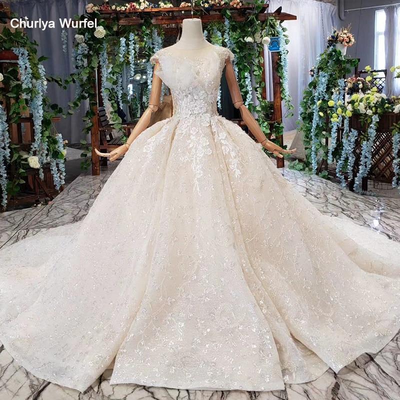 HTL546 Plus Size Wedding Dress Boho Illusion Back Lace Up On Two Side O-neck Sleeveless Lace Wedding Gowns 2019abito Da Sposa