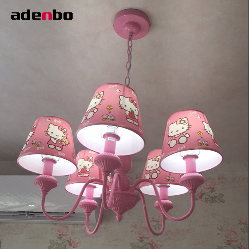 23c7a880f Modern LED Chandeliers Lighting Fixture Hello Kitty Kids Chandelier Light  With Fabric Shade Ceiling Mounting For Bedroom Lights-in Chandeliers from  Lights ...