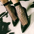 [COSPLACOOL]New Europe fashionable 1 Pair Dress Black Sexy Fishnet Socks Women/Ladies Lace Sox Students Meias calcetines