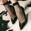 [Cosplacool] nueva europa vestido de moda 1 par negro sexy mallas calcetines mujeres/ladies lace meias sox estudiantes calcetines