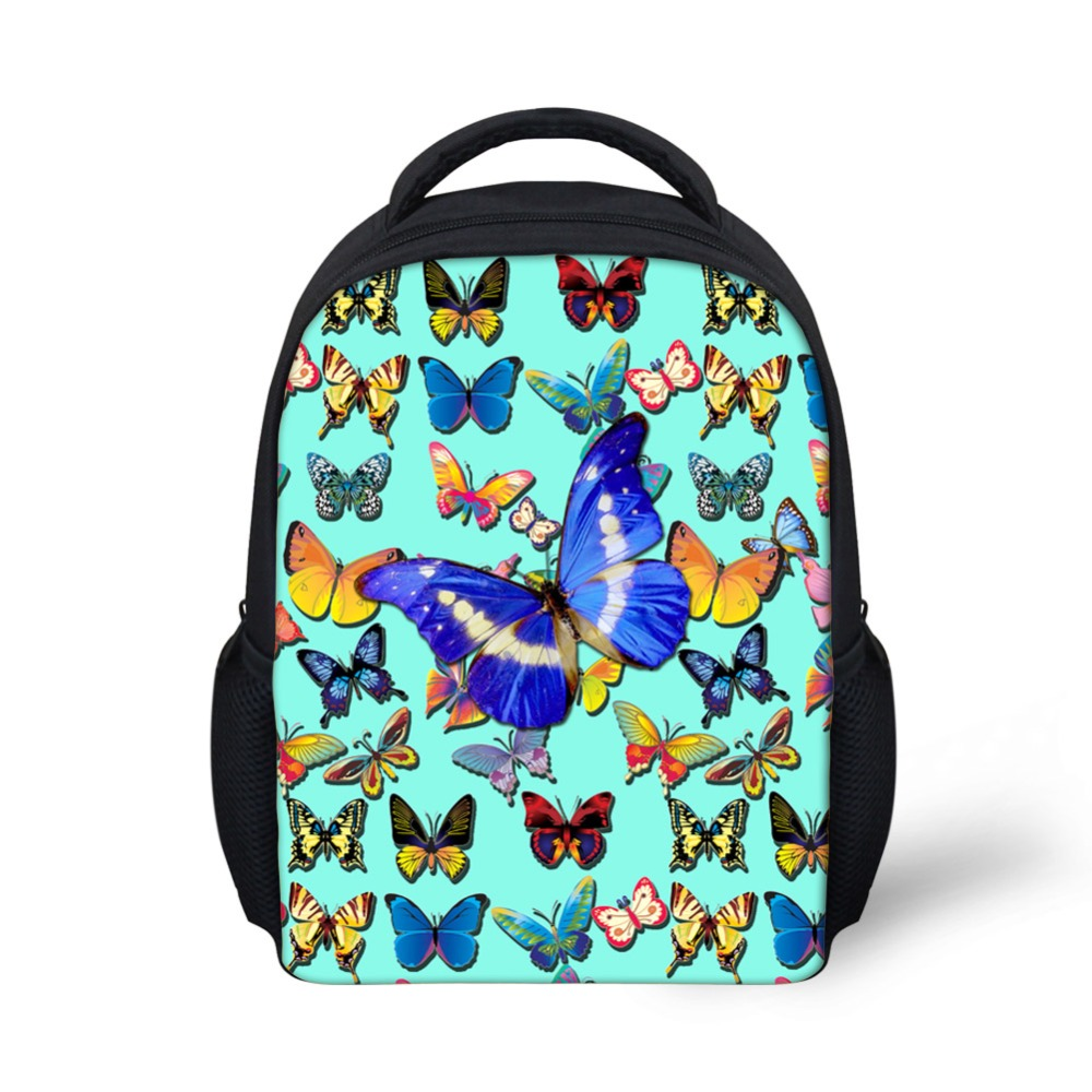 4fbfe80cbc5 FORUDESIGNS School Bags for Teenager Girls Boys Butterfly Printing Kids  Fashion School Bag Primary School Boy ...