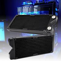 12 Pipes G1/4 Copper Water Cooling Radiator Computer CPU Heatsink Radiator Fan Cooling Computer Component Black 240mm