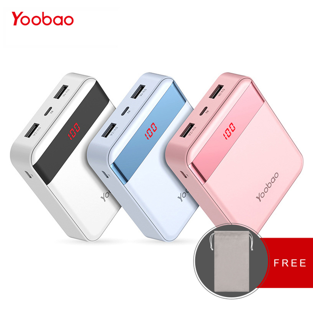 Yoobao mi ni Мощность Bank 10000 мАч милые Pover банк Портативный Зарядное устройство Внешний Батарея повербанк для Xiaomi mi 2 для huawei P9 телефон