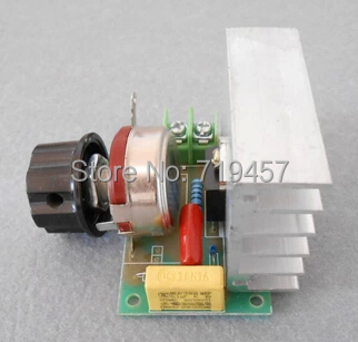 FREE SHIPPING 2PCS/LOT 3800W AC 220V SCR Voltage Regulator Dimming Light Speed Controller Thermostat