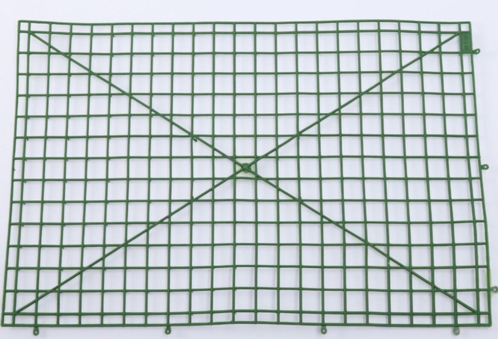 60x40cm Plastic Frame For Flowers Wall Floral Mat Arches DIY Wedding Decoration Backdrop Plastic Bent sub-rack Grid Flower Row(China)