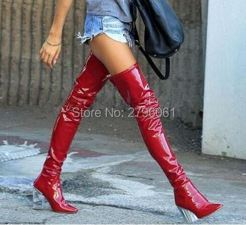 Popular Thigh High Boots Pvc Red-Buy Cheap Thigh High Boots Pvc ...