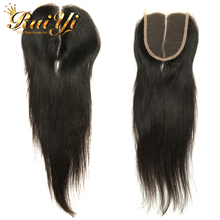 Peruvian Virgin Hair Straight With Closure Peruvian Human Hair 3 Bundles With Lace Closure 7A Peruvian Virgin Hair With Closure