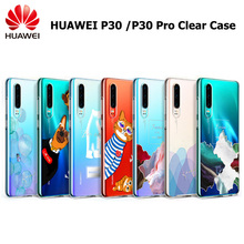 Original HUAWEI P30 P30 Pro Clear Cover Case Soft TPU Colorful Full Protect Transparent Back Cover Shell For P30/P30 Pro