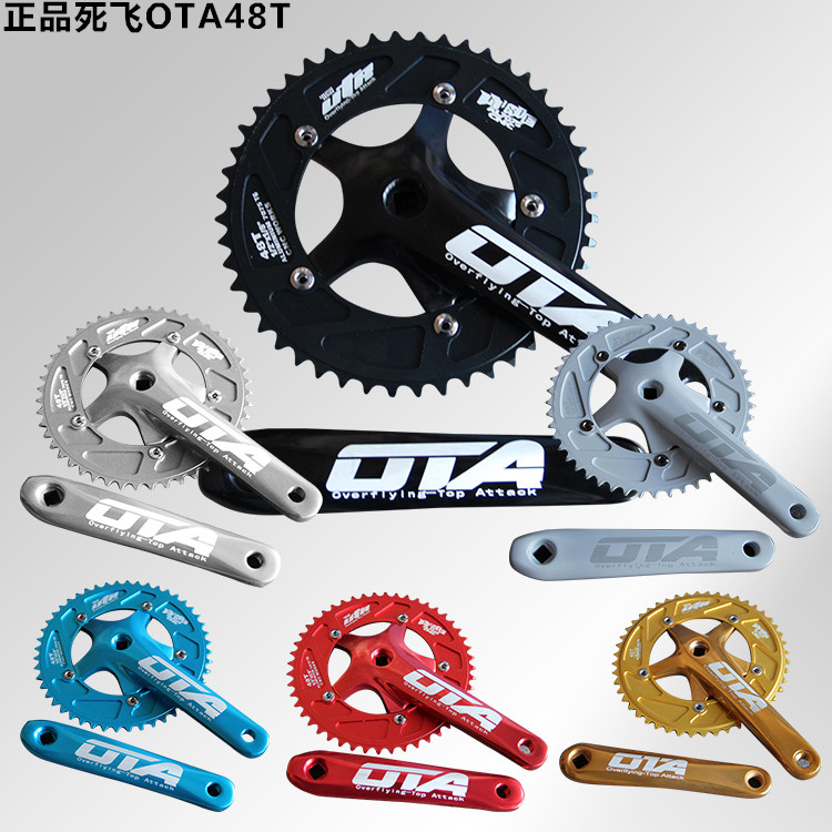 OTA AL Alloy Bike 170mm*48T Crankset Single Speed Fixed Gear Bicycle Cranks