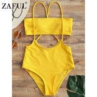 ZAFUL Sexy Bikini Brazilian Sling Bandeau Biquini High Waist Swimsuit Swimwear Women Bikinis Set Bathing Suit