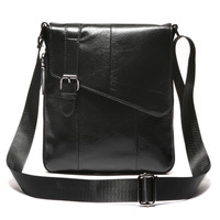 New Men Genuine Leather First Layer Cowhide Fashion Business Crossbody Shoulder Bag Tourism Leisure Cigarette Case