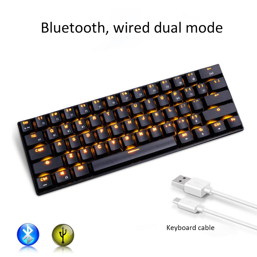 rk61 bluetooth usb keyboard 61 keys 2 in 1 usb wired bluetooth wireless mechanical keyboard for. Black Bedroom Furniture Sets. Home Design Ideas