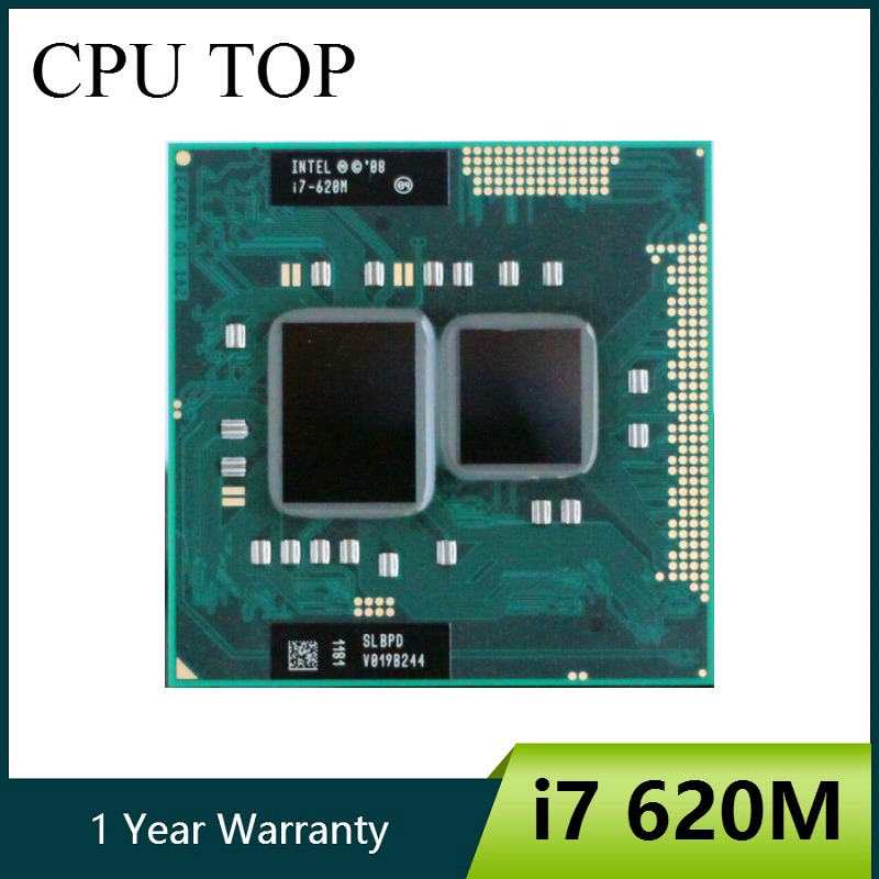 Intel Core i7 620M 2.66GHz 4M Socket G1 Laptop Processor CPU i7 620m-in CPUs from Computer