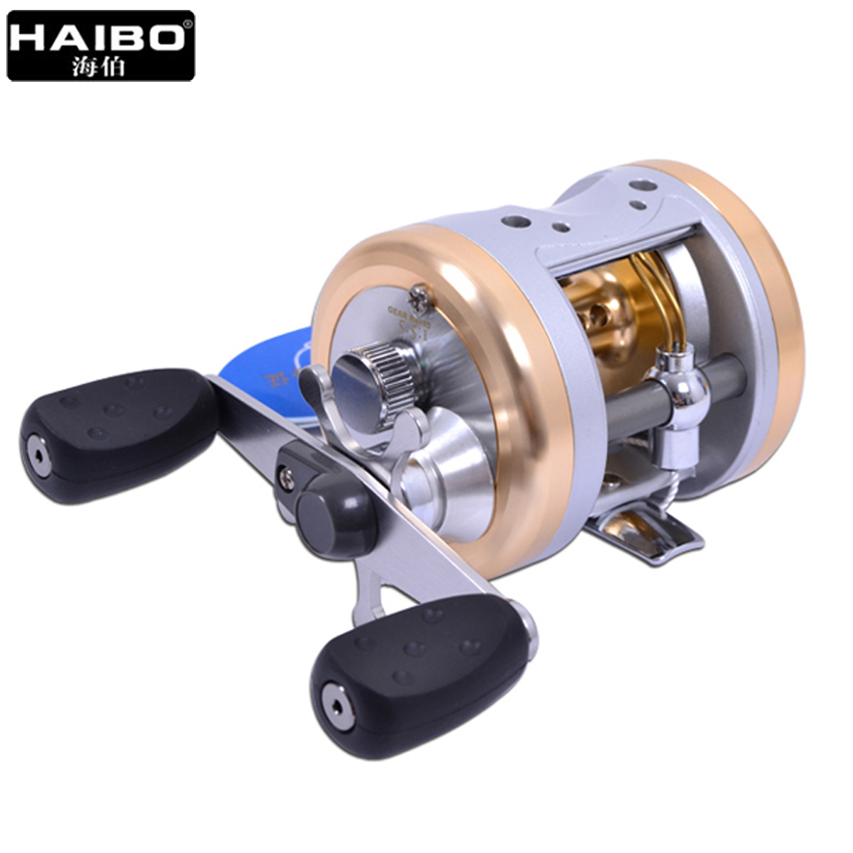 цена на Haibo Drum Reel JD 3530 3510 3505 Baitcasting Reel 5.5:1 3BB+RB Fishing Round Reel Right Handed Bait Casting Trolling Reel
