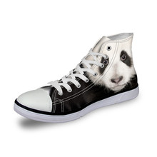 2017 Wolf Men Fashion shoes Casual Animal Printed Soft shoes High Top Panda Shoes Man All Sport star shoes  Chimpanzee Walking