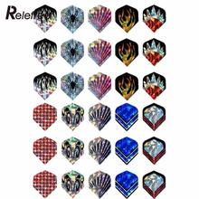 Relefree 30Pcs/10Set Professional 2D Cool Bling Dart Flights Laser Tail Harrows Throwing Toy(China)