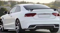 For Audi A3 A4 A5 A6 A7 TT Spoiler 4 Door GT Style ABS plastic Tail Wing Rear Trunk Spoiler Primer and paint color