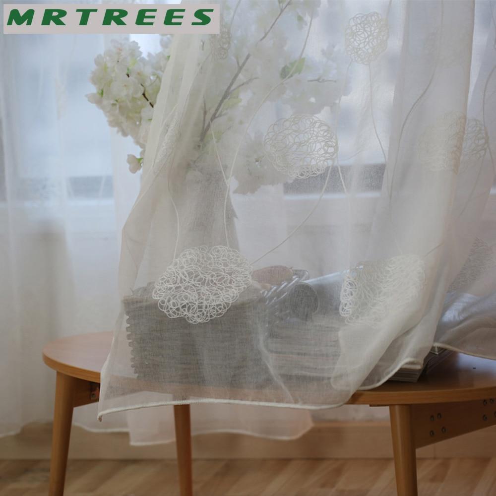 MRTREES Λευκά Κεντημένα Παράθυρα - Αρχική υφάσματα - Φωτογραφία 5